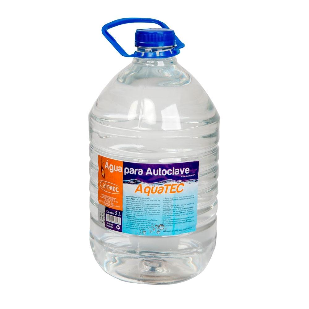 Água Bidestilada Aquatec para Autoclave Galão 5l