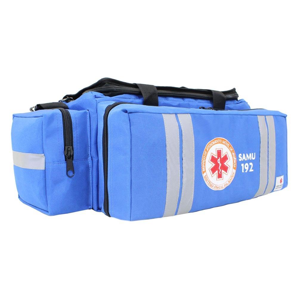 Bolsa de Atendimento Fibra Resgate Pré-Hospitalar Samu APH-730 Azul