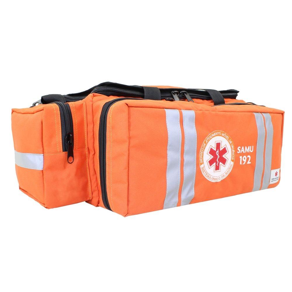 Bolsa de Atendimento Fibra Resgate Pré-Hospitalar Samu APH-730 Laranja