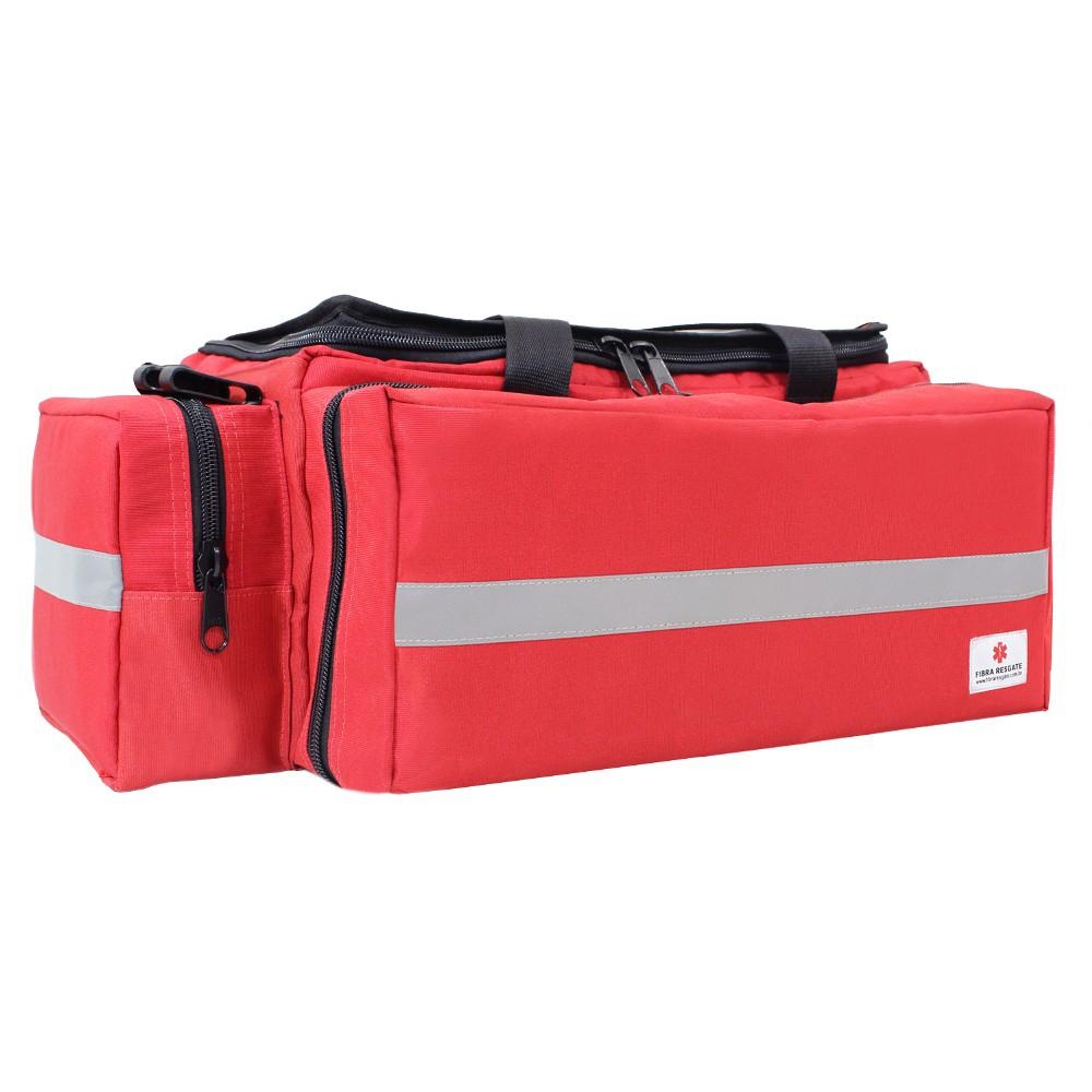 Bolsa de Atendimento Fibra Resgate Pré-Hospitalar APH-701 Vermelha