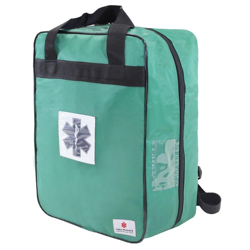 Bolsa Mochila Fibra Resgate para Medicamentos Cruz da Vida APH-722 Verde