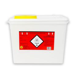 Coletor Perfurocortante Descarpack Rígido para Resíduos Quimioterápicos 7 litros