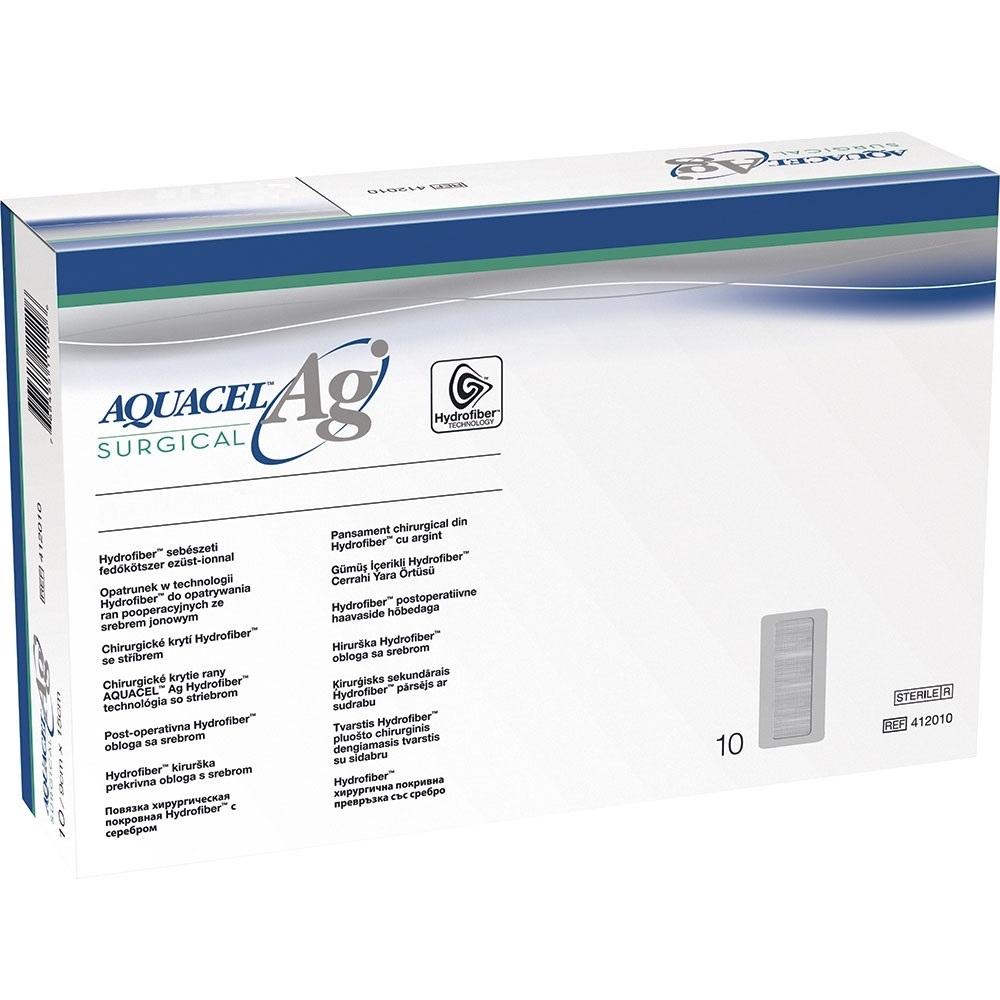Curativo Aquacel Convatec AG Surgical Prata Estéril 9 x 25cm