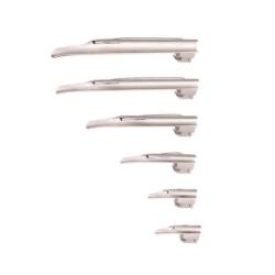 Lâmina para Laringoscópio MD Fibra Óptica Miller Reta