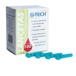 Lanceta G-Tech para Caneta Lancetadora 28G com 100 un.