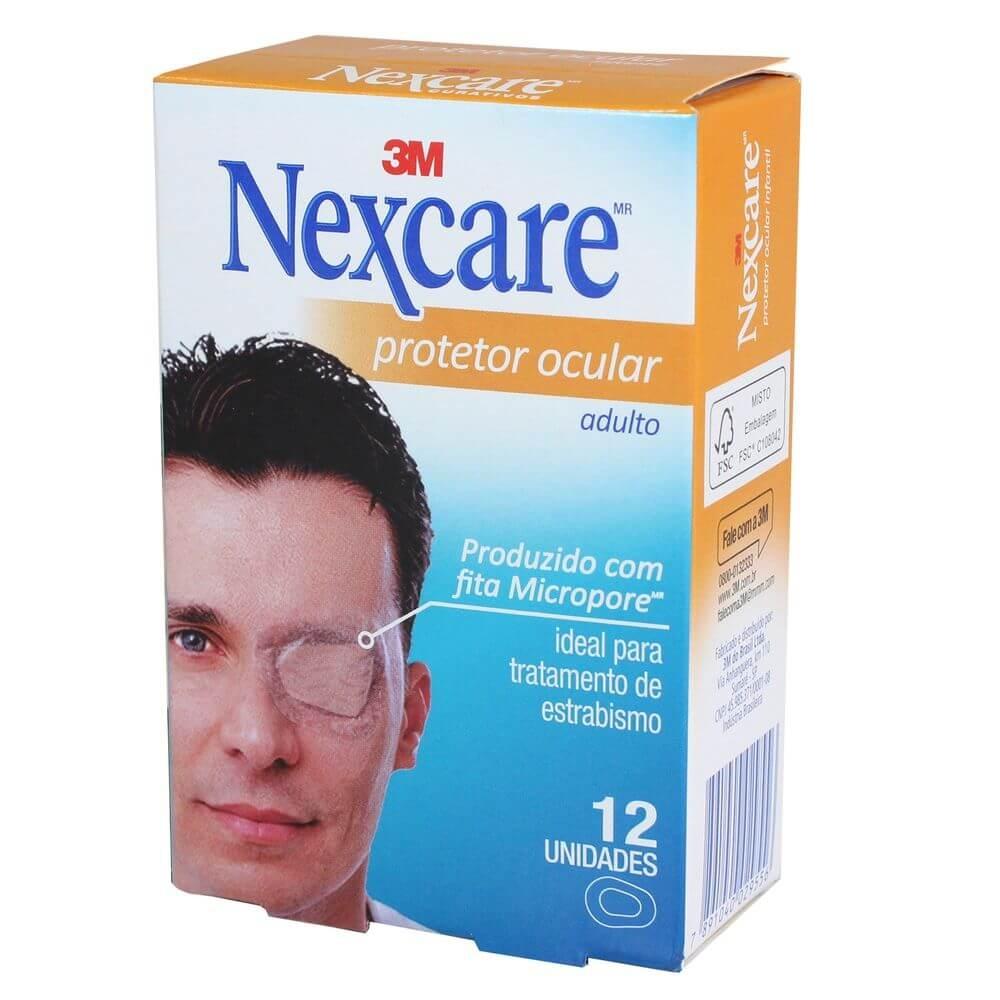 Protetor Ocular Nexcare 3M Adulto com 12 un.