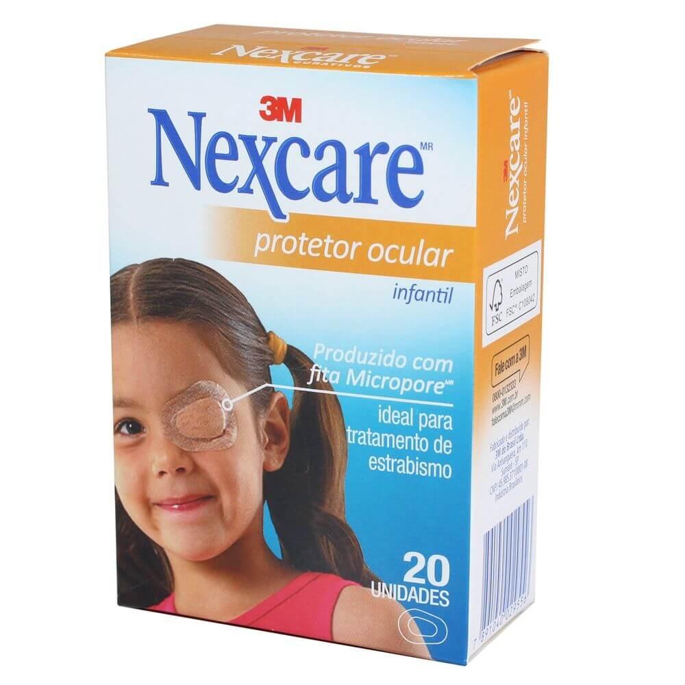 Protetor Ocular Nexcare 3M Infantil com 20 un.