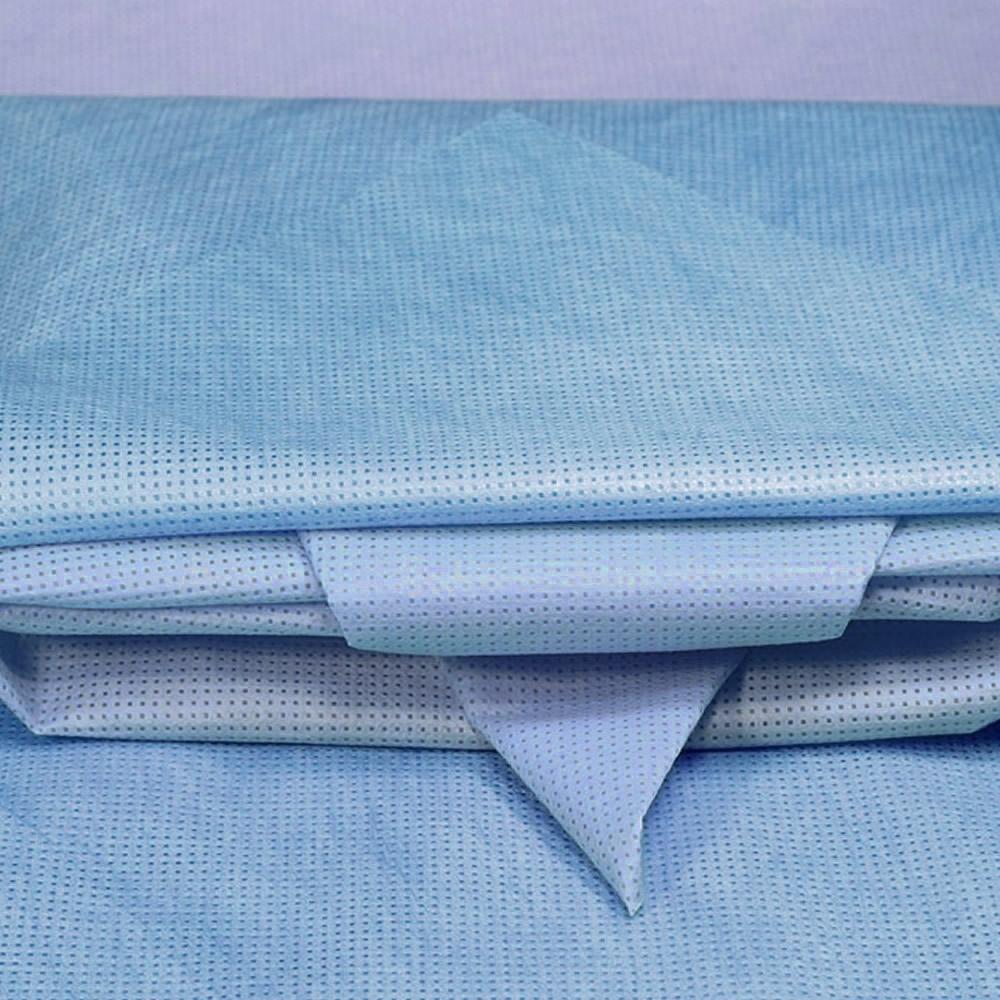Wraps para Esterilização Polarfix 75 x 75cm 50g Azul com 50 un.